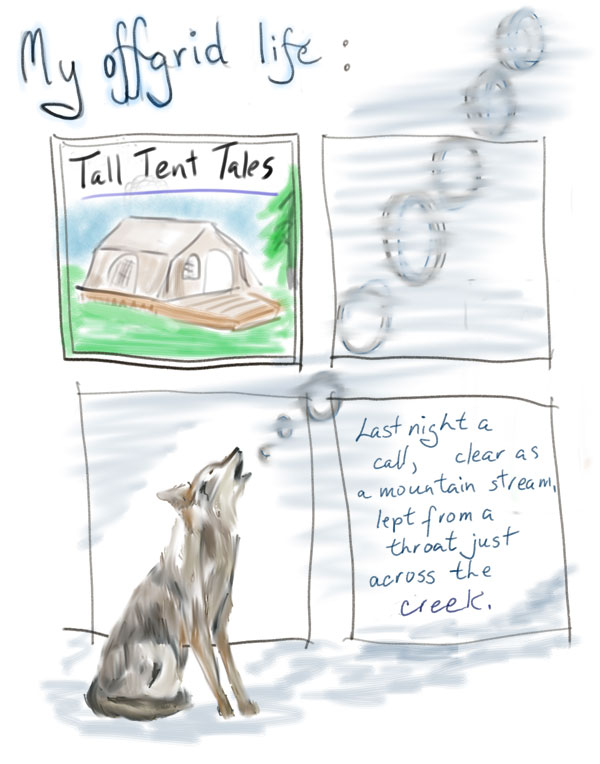 Coyote night song, tales from the tent