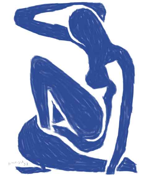 The neck and hand hanging over show the brilliance of Matisse's understanding of the human form.
