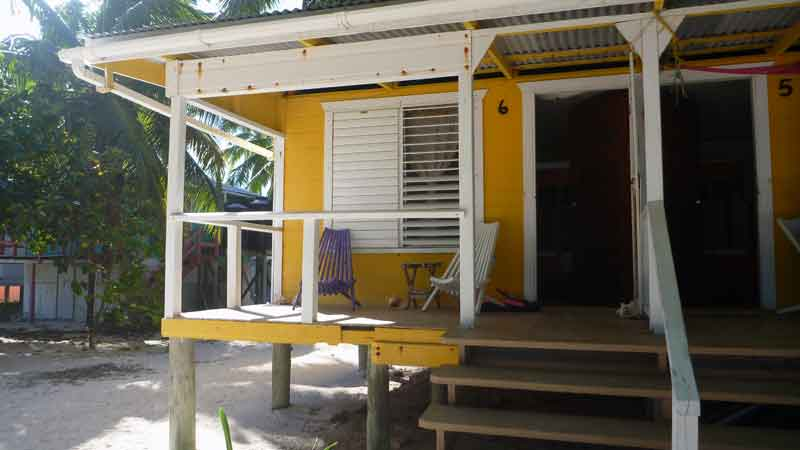 My tiny house cabin in Belize. Thank you Tobacco Caye lodge. You rule.