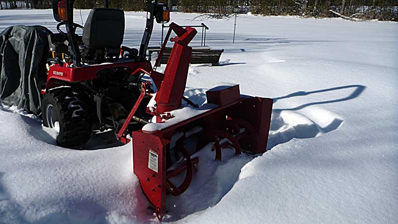 "I had just bought this snowblower. A very old Meteor 48"" snowblower for 3 pt hitch."