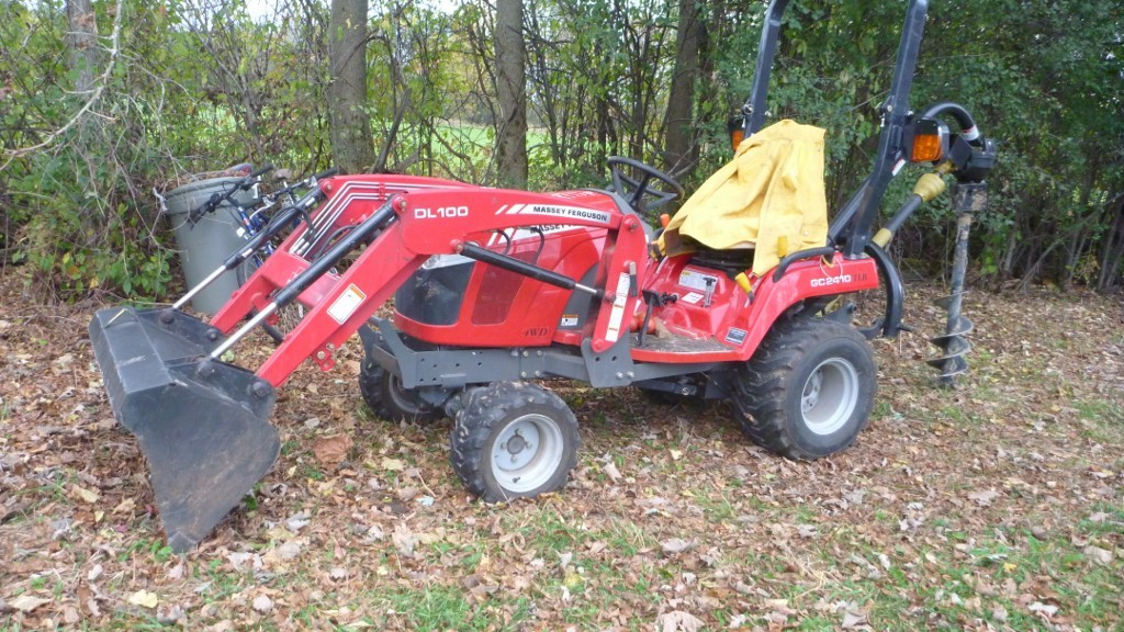 This is my tractor. Massey Ferguson 2410 TLB. Tractor, loader, backhoe.