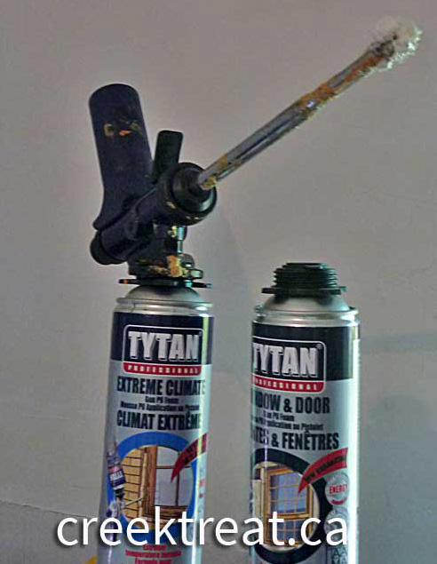 HT-300 insulation foam gun with two types of Tytan foam.