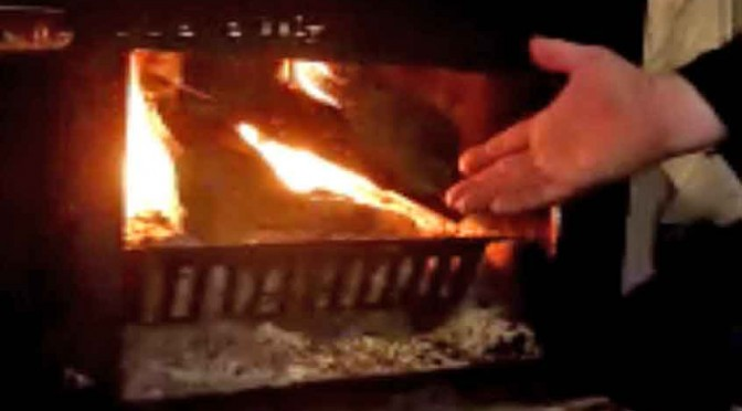 Need coffee? a 2 minute wood stove lighting trick